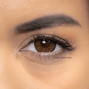 Fashion Lentilles® Big Eyes Brown 1 an - Lentilles Big Eyes